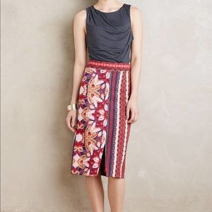 Anthropologie Maeve Marala Skirt NWT Floral Small